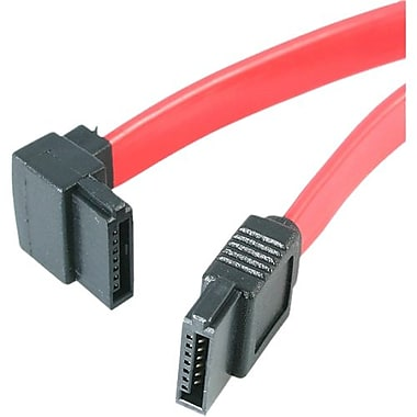 StarTech ® Câble Serial ATA/SAS à orientation gauche SATA18LA1, 18 po