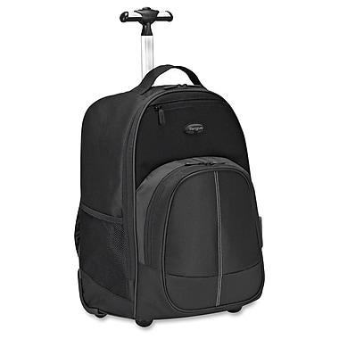 Targus 16 Compact Rolling Backpack Black , Polyester, Black & Gray, (TSB750US)