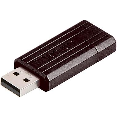 Verbatim – Clé USB PinStripe, 128 Go, noir
