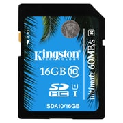 Kingston® SDA10/16GB Ultimate Class 10 UHS-I 16GB SDHC Flash Memory Card