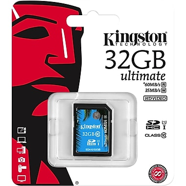 Kingston – Carte mémoire Secure Digital haute capacité (SDHC) Ultimate de 32 Go