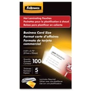 Fellowes Glossy Pouches, Business Card, 5 Ml, 100/Pack