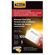 FellowesMD – Pochettes lustrées, cartes professionnelles, 5 mil, 100/paquet