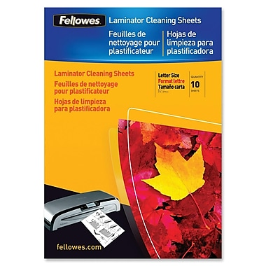 Fellowes Laminator Cleaning Sheets, 10/Pack