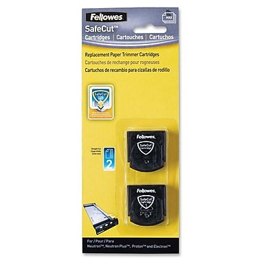 Fellowes Safecut Rotary Trimmer Blades, 2Pk Straight