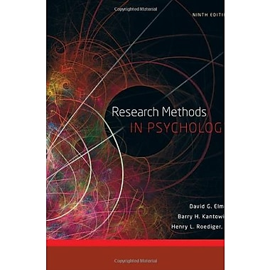 Research Methods in Psychology, Used Book, (9781111350741)