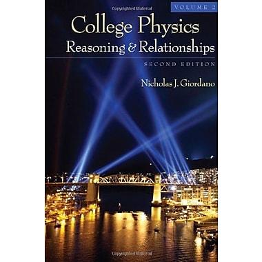 College Physics, Volume 2, New Book, (9781111570989)