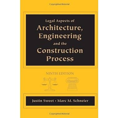 Legal Aspects of Architecture, Engineering and the Construction Process, New Book, (9781111578718)