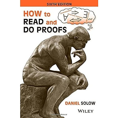 How to Read and Do Proofs: An Introduction to Mathematical Thought Processes, Used Book, (9781118164020)