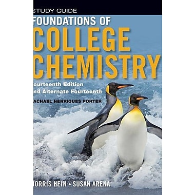 Foundations of College Chemistry, Student Study Guide, New Book, (9781118289006)
