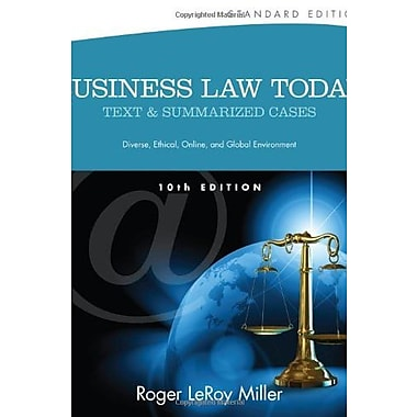 Business Law Today, Standard: Text and Summarized Cases, New Book, (9781133273561)