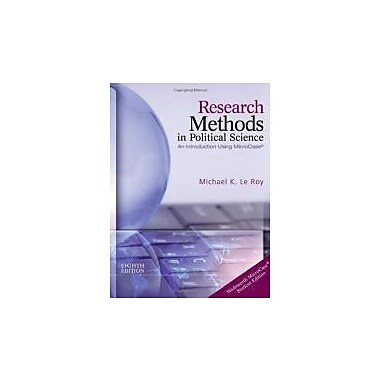Research Methods in Political Science (with MicroCase Printed Access Card), New Book, (9781133309307)