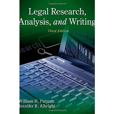 Legal Research, Analysis, and Writing, New Book, (9781133591900)