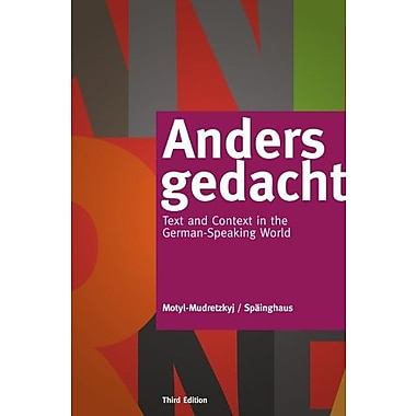 Anders gedacht: Text and Context in the German-Speaking World, New Book, (9781133607304)