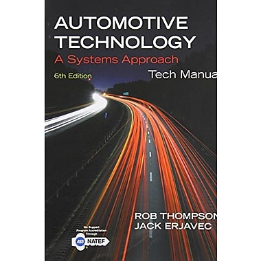 Tech Manual for Erjavec's Automotive Technology: A Systems Approach, Used Book, (9781133933731)