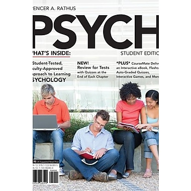 PSYCH 3 (with CourseMate Printed Access Card) (Engaging 4ltr Press Titles in Psychology), New Book, (9781133960805)