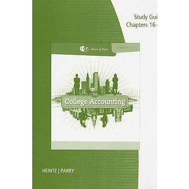 Study Guide with Working Papers, Chapters 16-27 for Heintz/Parry's College Accounting, New Book, (9781285059365)
