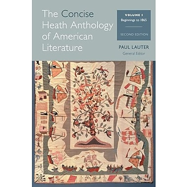 The Concise Heath Anthology of American Literature, Volume 1: Beginnings to 1865, New Book, (9781285079998)
