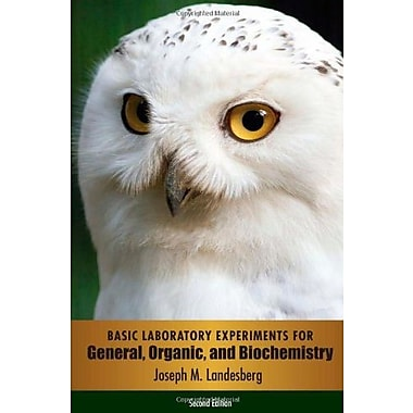 Basic Laboratory Experiments for General, Organic, and Biochemistry, New Book, (9781285459653)
