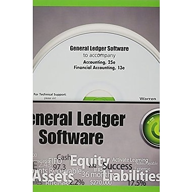 General Ledger Software CD-ROM for Accounting, 25th and Warren's Financial Accounting 13e, New Book, (9781285462554)