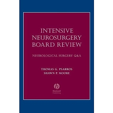 Intensive Neurosurgery Board Review: Neurological Surgery Q&A, New Book, (9781405104791)