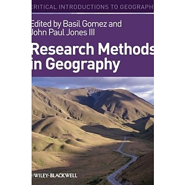 Research Methods in Geography: A Critical Introduction, New Book, (9781405107112)