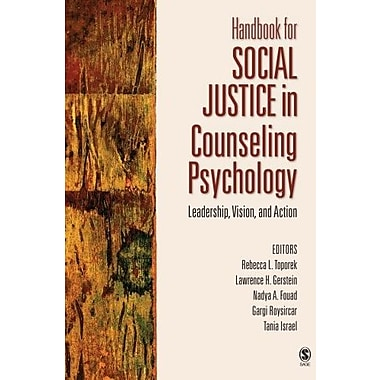 Handbook for Social Justice in Counseling Psychology: Leadership, Vision, and Action, New Book, (9781412910071)