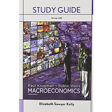 Study Guide for Macroeconomics, New Book, (9781464104077)