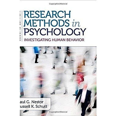 Research Methods in Psychology: Investigating Human Behavior, New Book, (9781483343761)