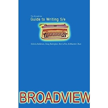 The Broadview Guide to Writing, New Book, (9781554810000)