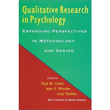Qualitative Research in Psychology: Expanding Perspectives in Methodology and Design, New Book, (9781557989796)