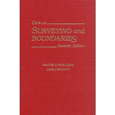 Clark on Surveying and Boundaries, New Book, (9781558348165)