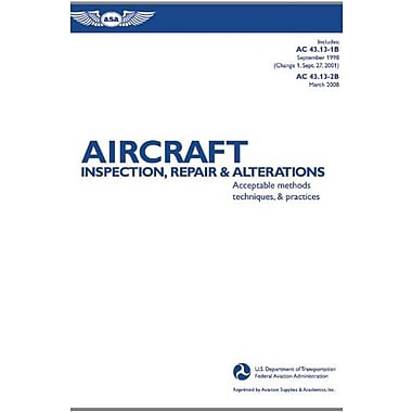 Aircraft Inspection, Repair & Alterations: Acceptable Methods, Techniques & Practices, New Book, (9781560277286)