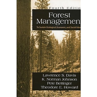 Forest Management: to Sustain Ecological, Economic, and Social Values, New Book, (9781577664369)