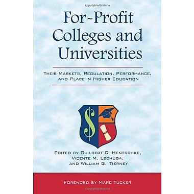 For-Profit Colleges and Universities, Used Book, (9781579224257)
