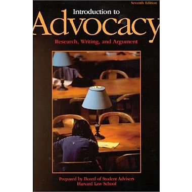 Introduction to Advocacy: Research, Writing and Argument (7th Edition) (University Casebook Series), New Book, (9781587784194)