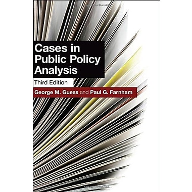 Cases in Public Policy Analysis, New Book, (9781589017344)