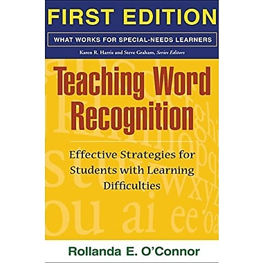 Teaching Word Recognition, First Edition, Used Book, (9781593853648)