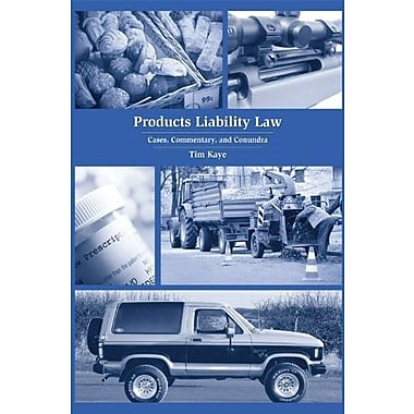 Products Liability Law: Cases, Commentary, and Conundra, New Book, (9781594608421)
