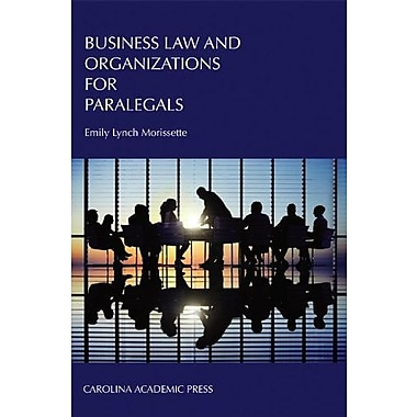 Business Law and Organizations for Paralegals, New Book, (9781594608841)