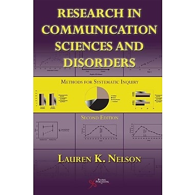 Research in Communication Sciences and Disorders: Methods for Systematic Inquiry, Used Book, (9781597564915)