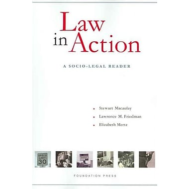 Macaulay, Friedman and Mertz's Law in Action: A Socio-Legal Reader (Coursebook), Used Book, (9781599410807)