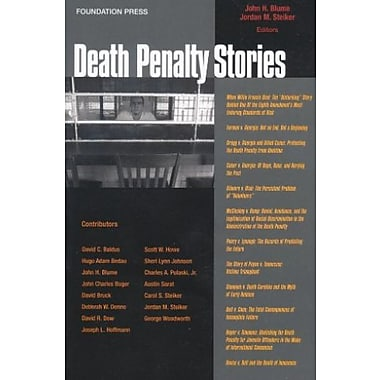 Blume and Steiker's Death Penalty Stories (Stories Series) (Law Stories), Used Book, (9781599413433)
