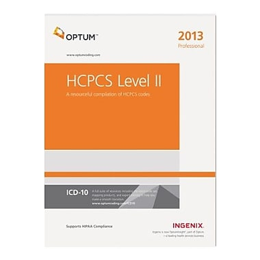 HCPCS 2013 Level II Professional Softbound (HCPCS LEVEL II PROFESSIONAL), New Book, (9781601516718)