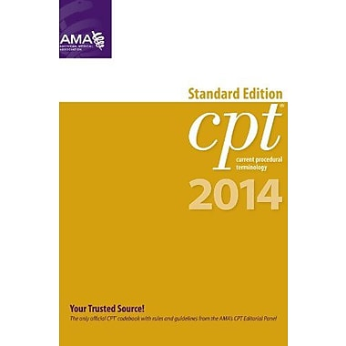 CPT 2014 Standard Edition (CPT Current Procedural Terminology - Standard Edition), Used Book, (9781603598453)