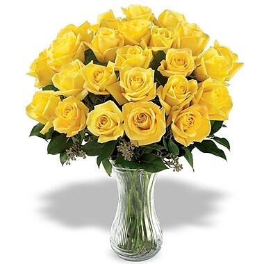 What a Bloom – Bouquet de 18 roses jaunes