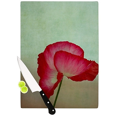 KESS InHouse La Te Da by Robin Dickinson Poppies Cutting Board; 0.5'' H x 15.75'' W x 11.5'' D