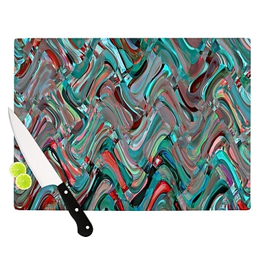 KESS InHouse Abstract Wave by Suzanne Carter Abstract Cutting Board; 0.5'' H x 15.75'' W x 11.5'' D