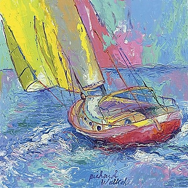 iCanvas Sailboat by Richard Wallich Painting Print on Canvas; 18'' H x 18'' W x 0.75'' D