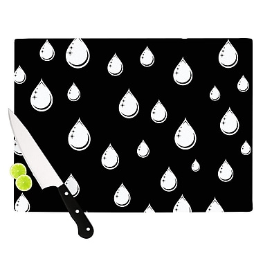 KESS InHouse Raindrops by Suzanne Carter Cutting Board; 0.5'' H x 15.75'' W x 11.5'' D